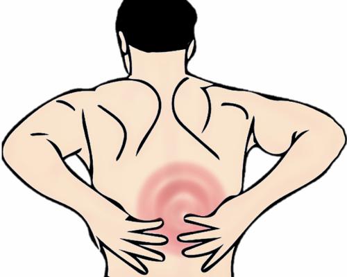 Mand med rygsmerter